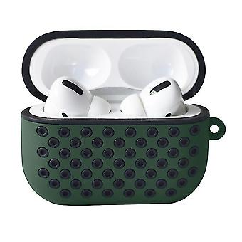 For Apple AirPods Pro Bluetooth Earphone Protect Case Double Colors Silicone Shatter-Resistant