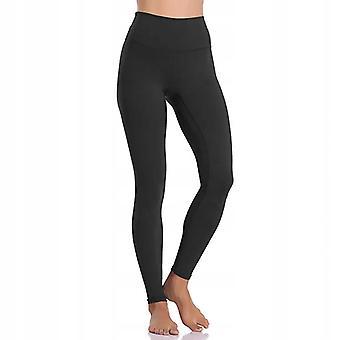 Női sport jóga Fitness Leggings-fekete