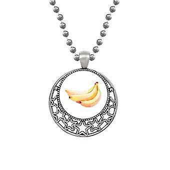Banan Frukt Akvarell Illustrasjon Mønster Halskjeder Anheng Retro Moon Stjerner Smykker