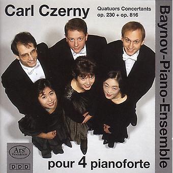 Czerny / Baynov - Carl Czerny Quatuors Concertants Op 230 & Op 816 [CD] USA import