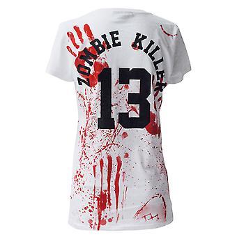 Darkside - zombie killer 13 - womens capsleeve t-shirt - white