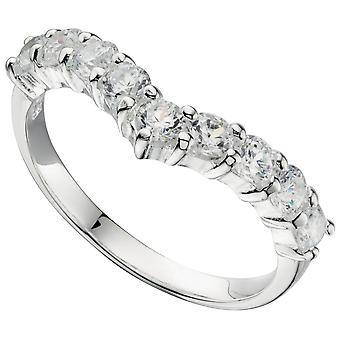 925 Silver Fashionable Zirconia Ring