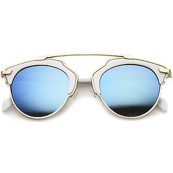 High Fashion een Pantos dwarsbalk kleur Mirror Lens Aviator zonnebril 50mm