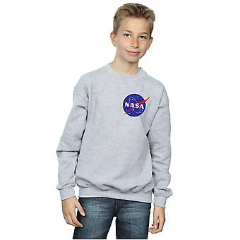 NASA Boys Classic Insignia Chest Logo Sweatshirt