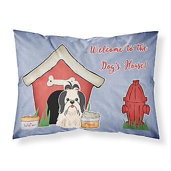 Dog House Collection Shih Tzu Black White Fabric Standard Pillowcase