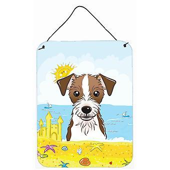 Jack Russell Terrier verão praia parede ou porta-impressões de suspensão