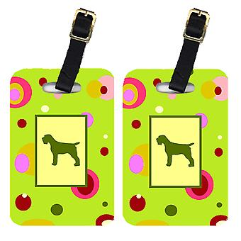 Carolines Treasures  CK1068BT Pair of 2 Wirehair Pointing Griffon Luggage Tags