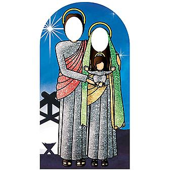 Nativity Scene Red and Green Stand In Lifesize Cardboard Cutout / Standee