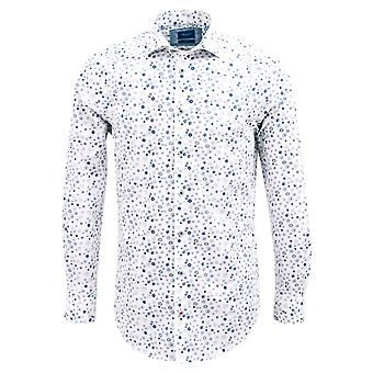 Tresanti Blue Flower Print Mens Shirt