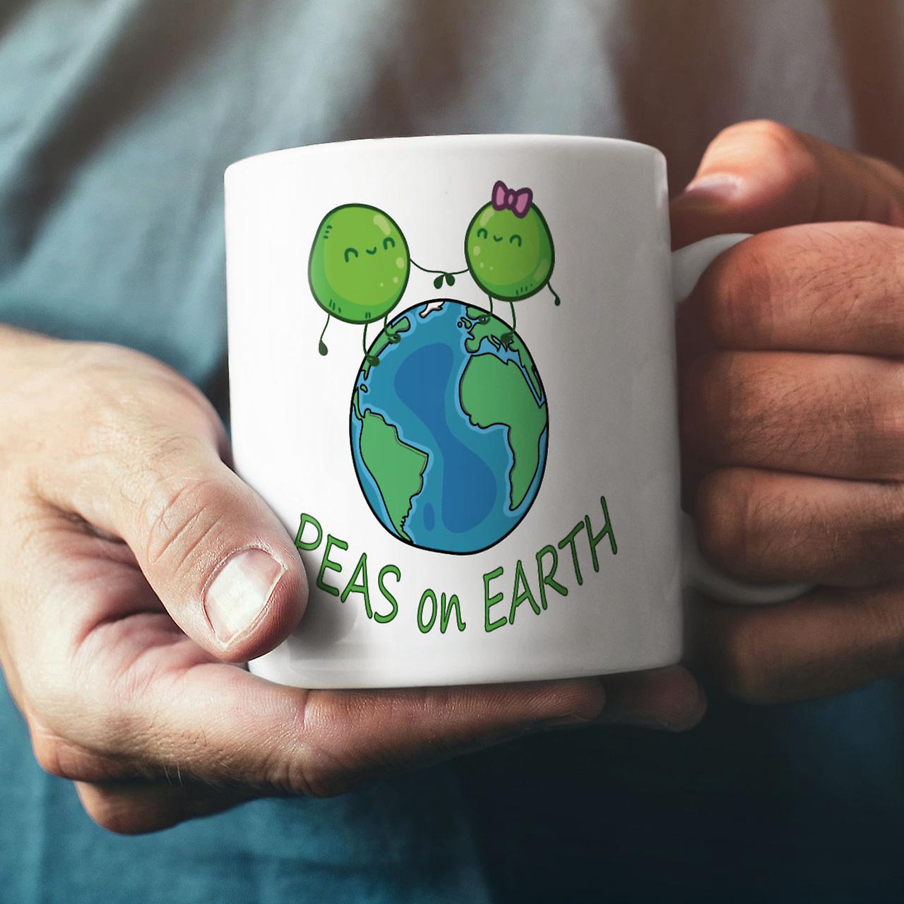 Erbsen auf der Erde neu weisser Tee Kaffee Keramik Becher 11 oz | Wellcoda