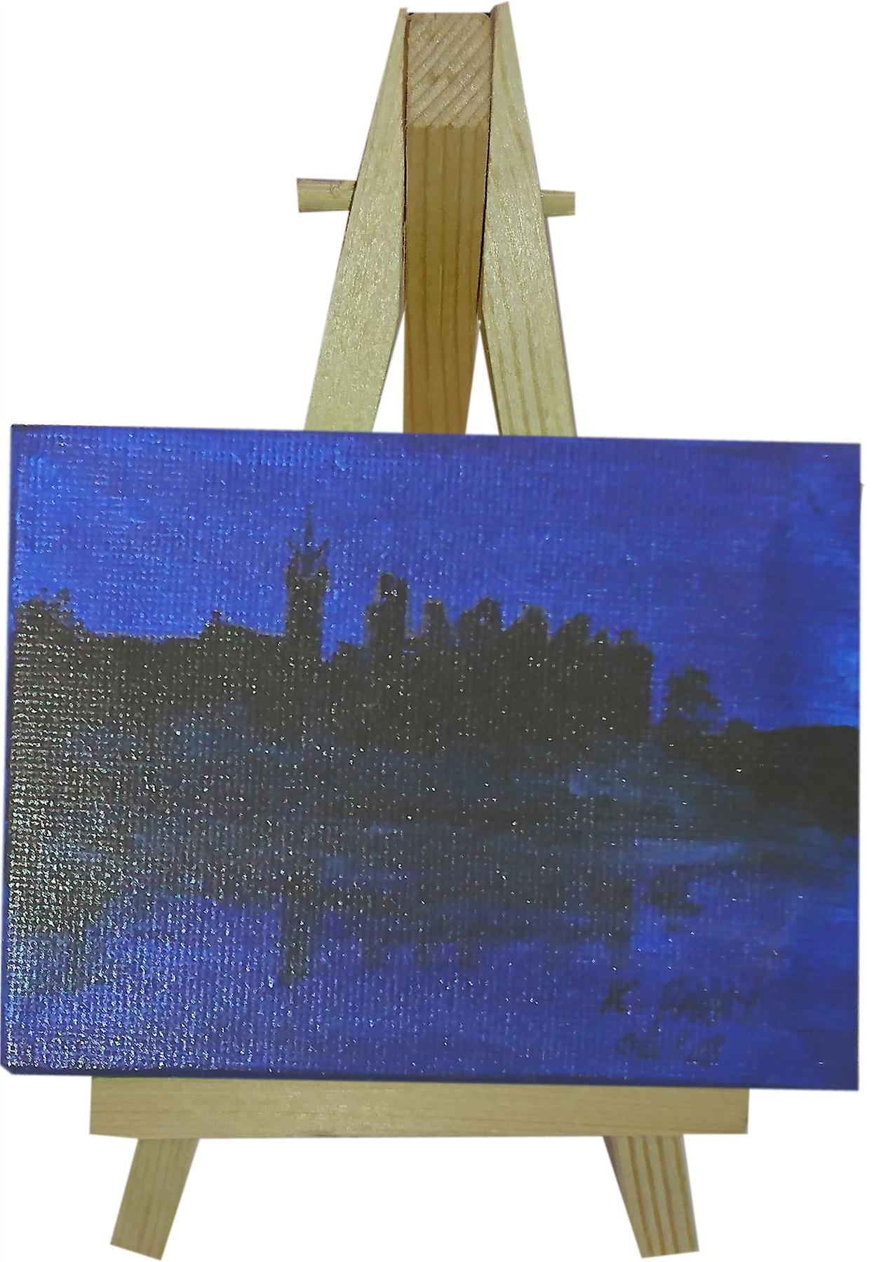 Keith Parry Mini Canvas & Stand Linlithgow Palace Blue