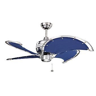 Ventilateur de plafond SPI bleu avec pull cord 102 cm/40