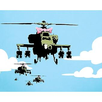 Banksy Helicopter Print Poster Poster Print