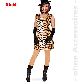 Tiger Tiger kjole damer kostume predator damer vildkat vilde kat kostume