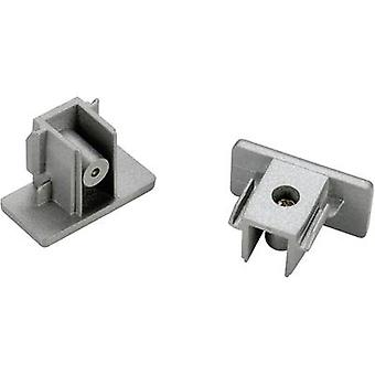 SLV 143132 High voltage mounting rail End piece 2-piece set 1-phase Silver-grey