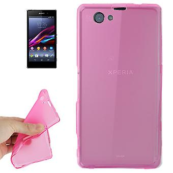 Translucent TPU case bag for Sony Xperia Z1 mini pink