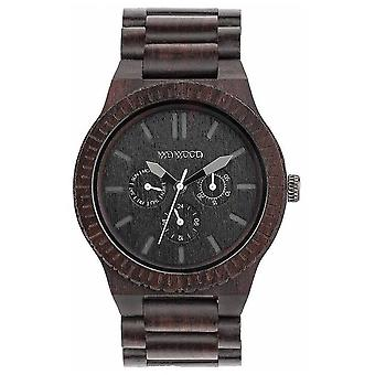 WeWood Mens Kappa Black Wooden Black Strap 70315300 Watch