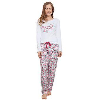 Acebo blanco pijama Pijama Top de la mujer Cyberjammies 3860