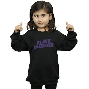 Black Sabbath Mädchen Distressed Logo Sweatshirt