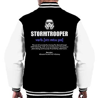 Original Stormtrooper Dictionary Definition Men's Varsity Jacket
