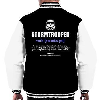 Originele Stormtrooper woordenboek definitie mannen Varsity Jacket