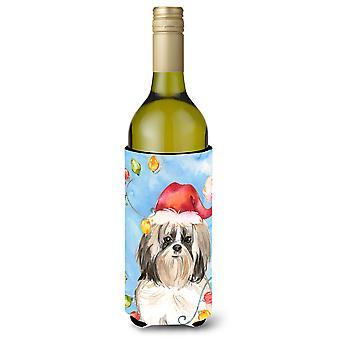 أضواء عيد الميلاد شيه تزو النبيذ زجاجة المشروبات عازل نعالها