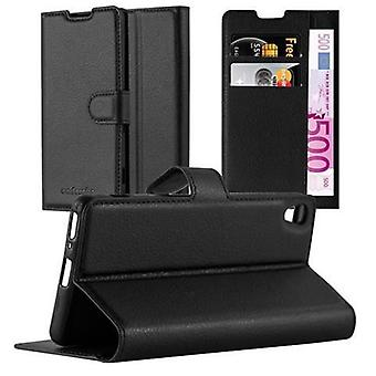 Cadorabo Case for Sony Xperia XA case case cover - Phone case with magnetic clasp, stand function and card compartment – Case Cover Protective Case Case Book Folding Style