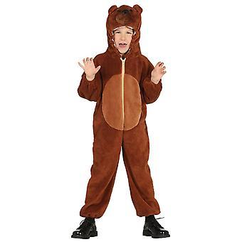 Boys Grizzly Brown Bear Fancy Dress Costume