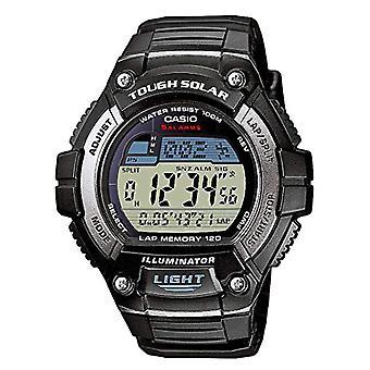 Casio digital watch quartz men with black resin strap W-S220-1AVEF