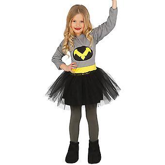 Meisjes vleermuis superheld Fancy Dress kostuum