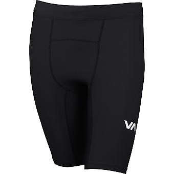 RVCA Mens Sport VA Compression Shorts - svart
