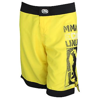 Ecko MMA Mens Posterize Fight Shorts -Yellow/Black