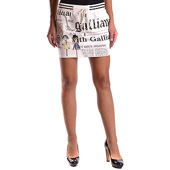 John Galliano Ezbc164038 Women's White/black Cotton Skirt