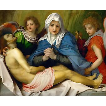 Lamentation of Christ,Andrea del Sarto,50x40cm