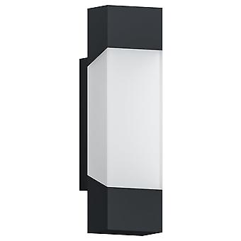 Eglo Gorzano IP44 LED Outdoor Wall Light In Anthracite