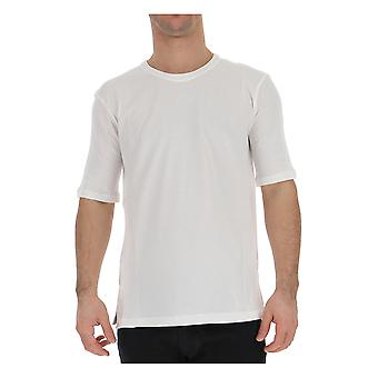 Laneus 904274 Men's White Cotton T-shirt