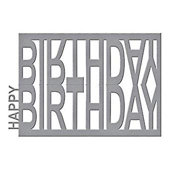 Spellbinders Happy Birthday Easel Designer Die (S4-716)