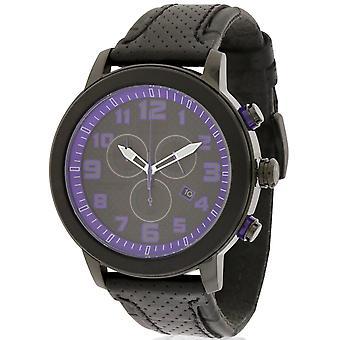 Cittadino di auto BRT 3.0 cronografo pelle nera Ladies Watch AT2235-00E
