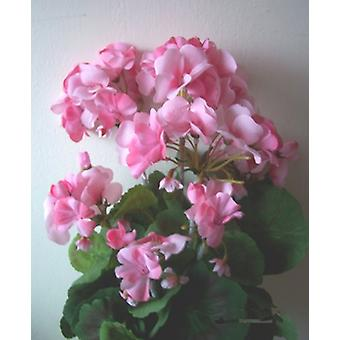 Artificial Silk Geranium Bush