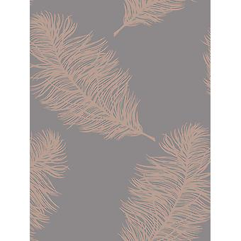 Fawning pena wallpaper rosa de ouro/cinza Holden 12629