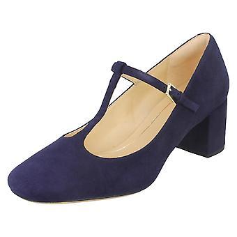 Ladies Clarks T-Bar Heeled Court Shoe Orabella Fern
