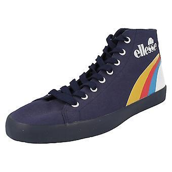 Unisex Ellesse Hi Top Canvas Shoes Vulcano