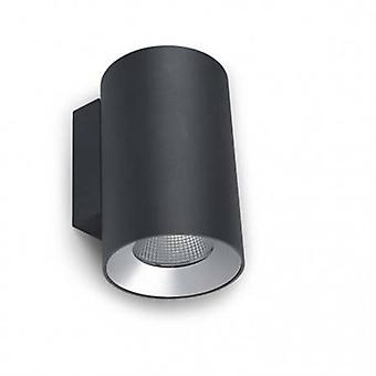 LED exterior de pared grande luz urbana gris Ip55