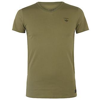 Firetrap Mens väg T skjorta kort ärm V urringning topp Casual kläder nya