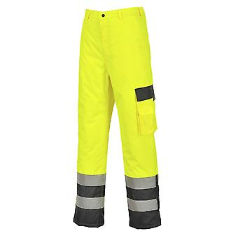 Portwest hi-vis contrast trousers - lined s686