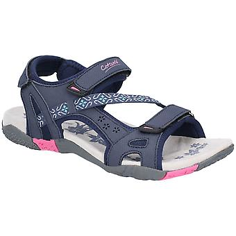 Cotswold Dame Whichford Touch Fest Sandal Navy/Fushia