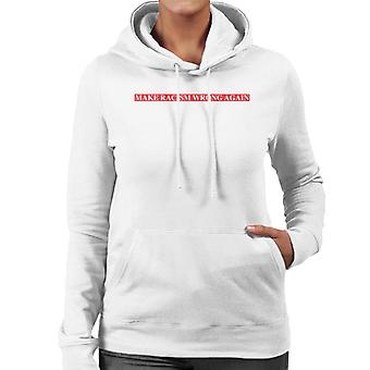 Make Racism Wrong Again Label Text Women's Hooded Sweatshirt
