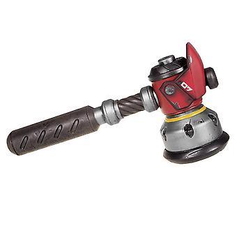 Overwatch replica Torbjörns Forge Hammer ruskea/hopea/punainen/harmaa, painettu, valmistettu muovista.