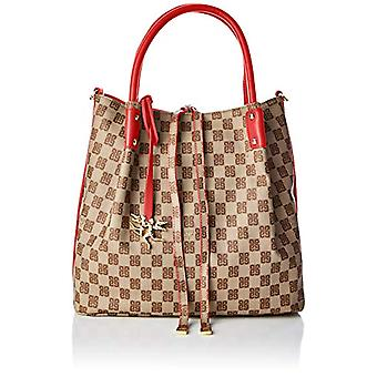 piero guidi Reversible Hobo Bag Women's Shoulder Bag (Red Poppy) 31x28x44 cm (W x H x L)