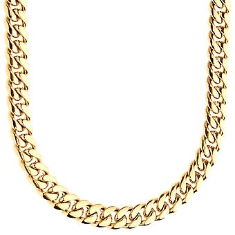 Iced Out Bling Stainless Steel Tank Chain - Miami Cuban 8mm gold